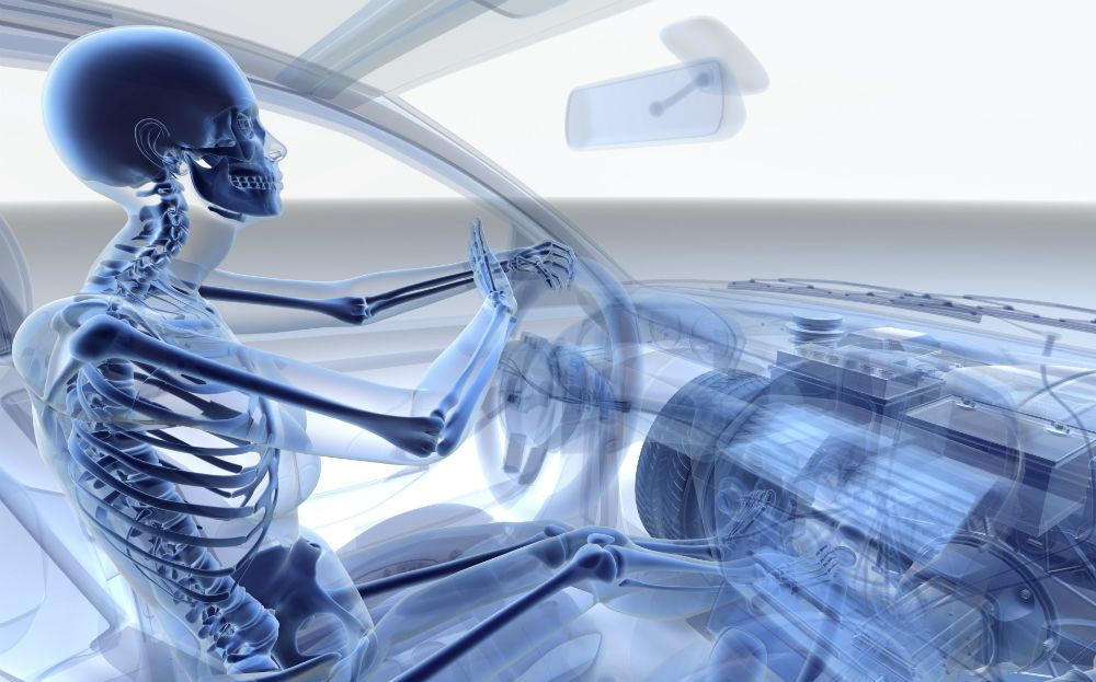 Short female drivers that sit close to the steering wheel are the most likely to be killed by an air bag.
