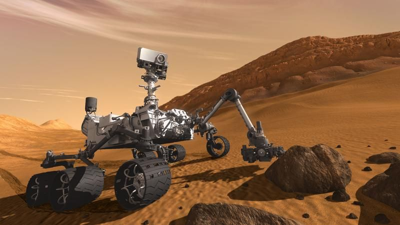 Alone on Mars, the Curiosity Rover sings to itself Happy Birthday.