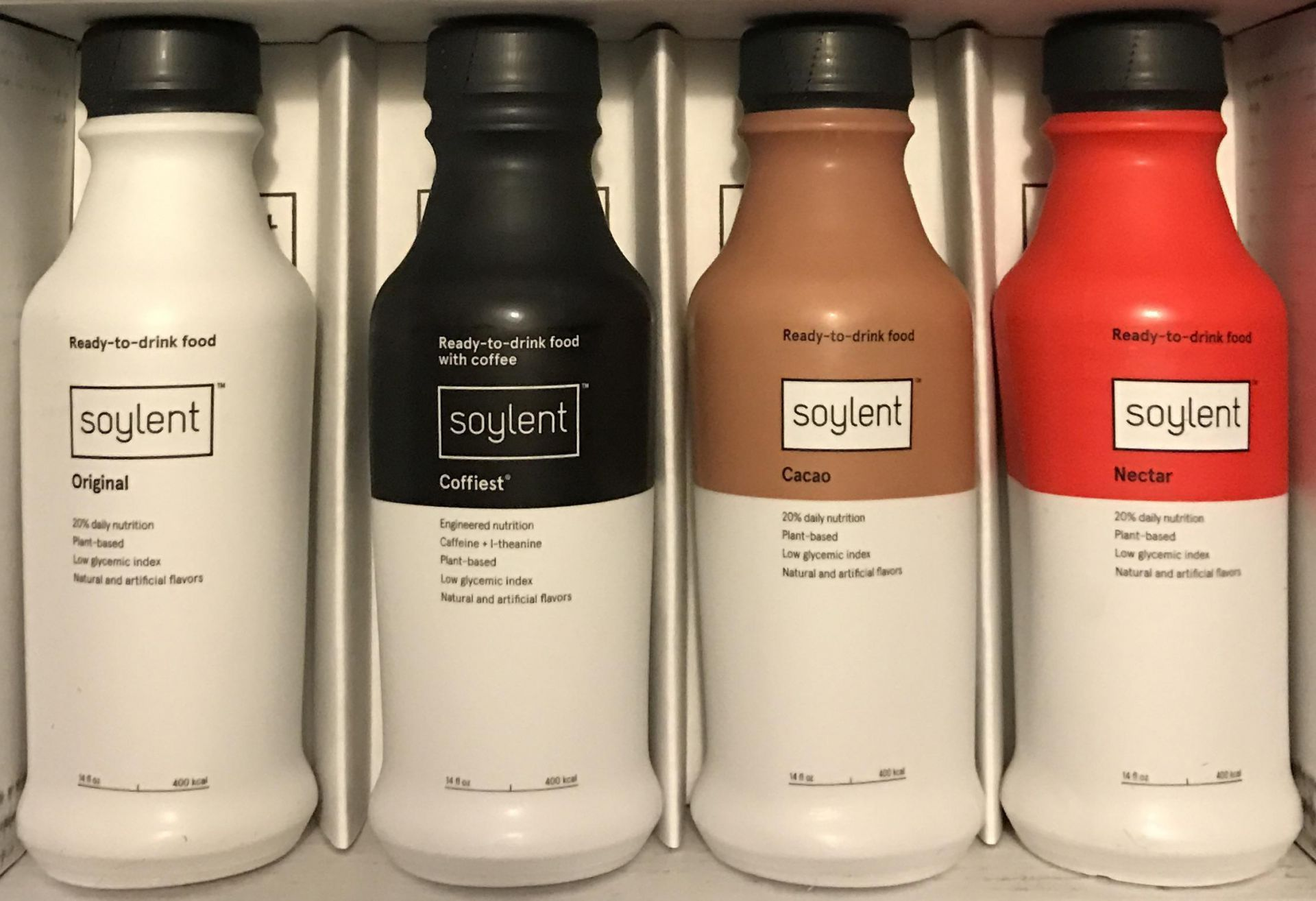 There is a food substitute intended to supply all daily nutritional needs, known as 'Soylent'.