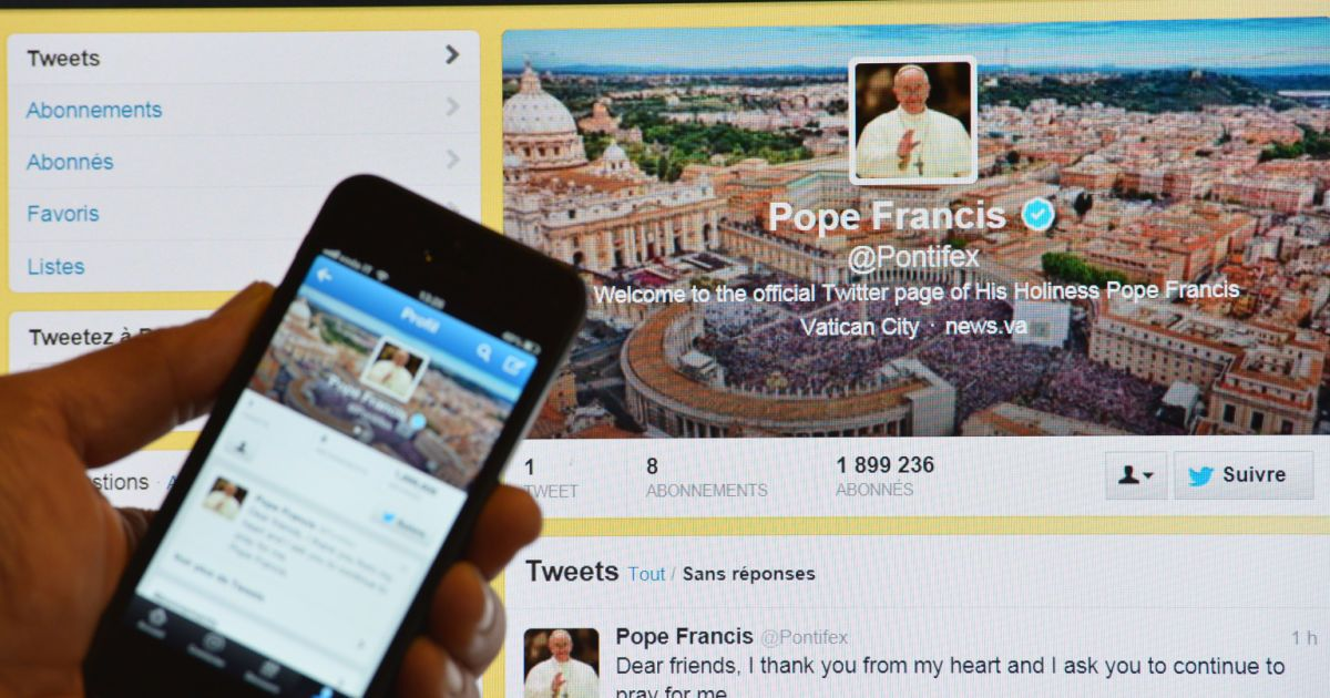 According to the Vatican, Catholics can reduce their time in purgatory by following the Pope of Twitter.