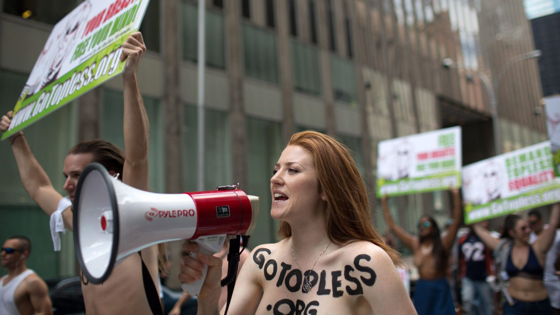 It's not illegal to go topless in New York City.
