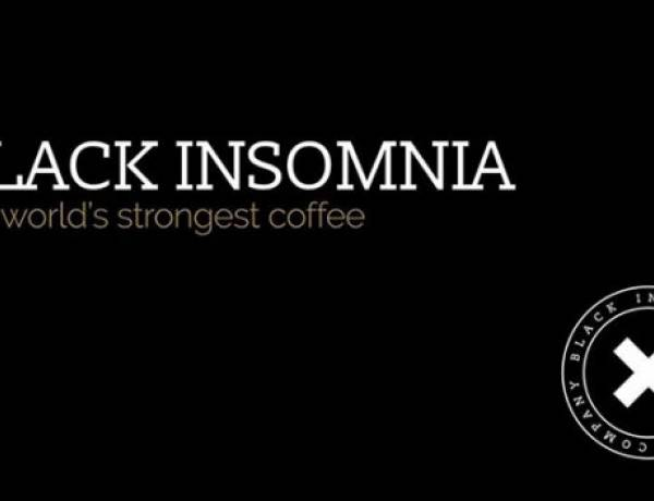 Black Insomnia is the strongest coffee in the world. Though doctors discourage consuming more than 400mg of caffeine in a day (about 4 cups of regular coffee, 10 cans of soda, or two 'energy shot' drinks), drinking a cup of Black Insomnia gives you nearly double that amount, because just one 12oz serving contains 702mg of caffeine.