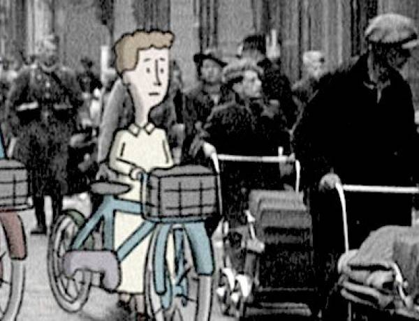 Just before the Nazis invaded Paris, H.A. and Margret Rey fled on bicycles. They were carrying the manuscript for Curious George.