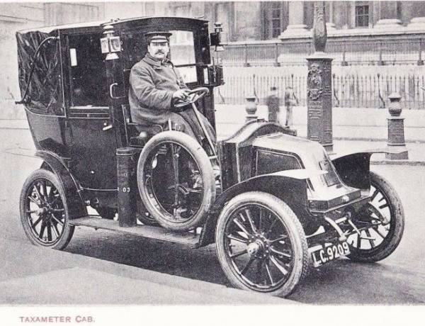 The first metered taxi was introduced in 1907.