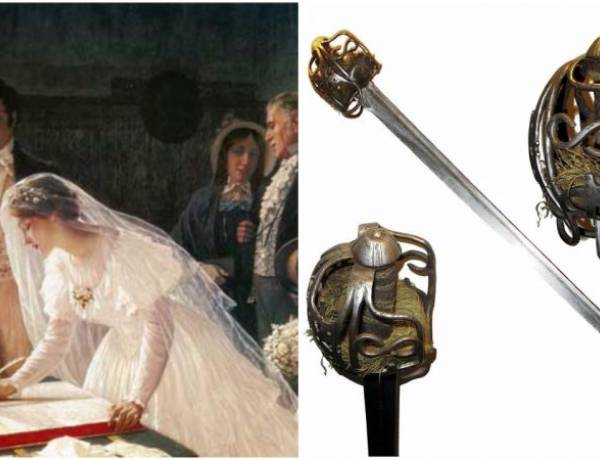 At weddings, the bride normally stands to the left of the groom so that his sword hand is free to defend against other suitors.