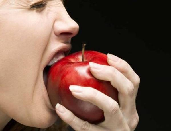 According to a study, eating an apple before going shopping causes a person to buy 25% more fruits and vegetables.