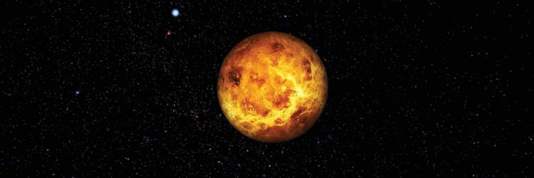 A day on Venus lasts longer than a year. It takes 243 Earth days to rotate once on its axis (sidereal day). The planet's orbit around the Sun takes 225 Earth days.