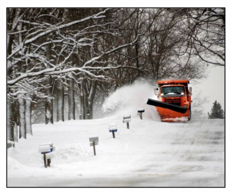 Clearing the area to the left of your driveway after it snows can help you avoid the 'second shovel'. This gives the plows a space to push all the snow from the road that would normally end up blocking your way, and then you won't have to shovel twice.