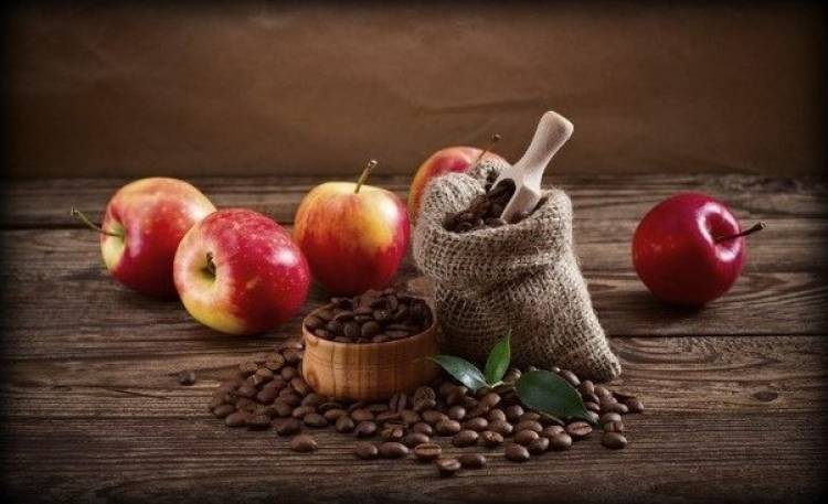 An apple in the morning will keep you more awake than a cup of coffee.