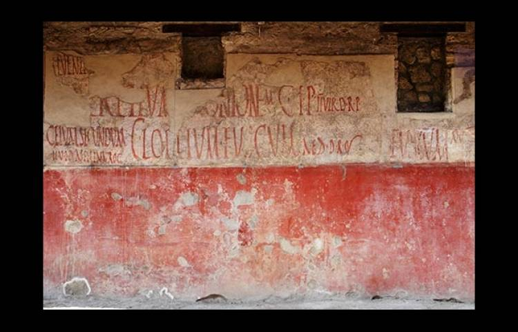 """Some of the first examples of graffiti come from 1st century Pompeii, where messages like """"I don't want to sell my husband"""" and """"Successus was here"""" were written on walls."""