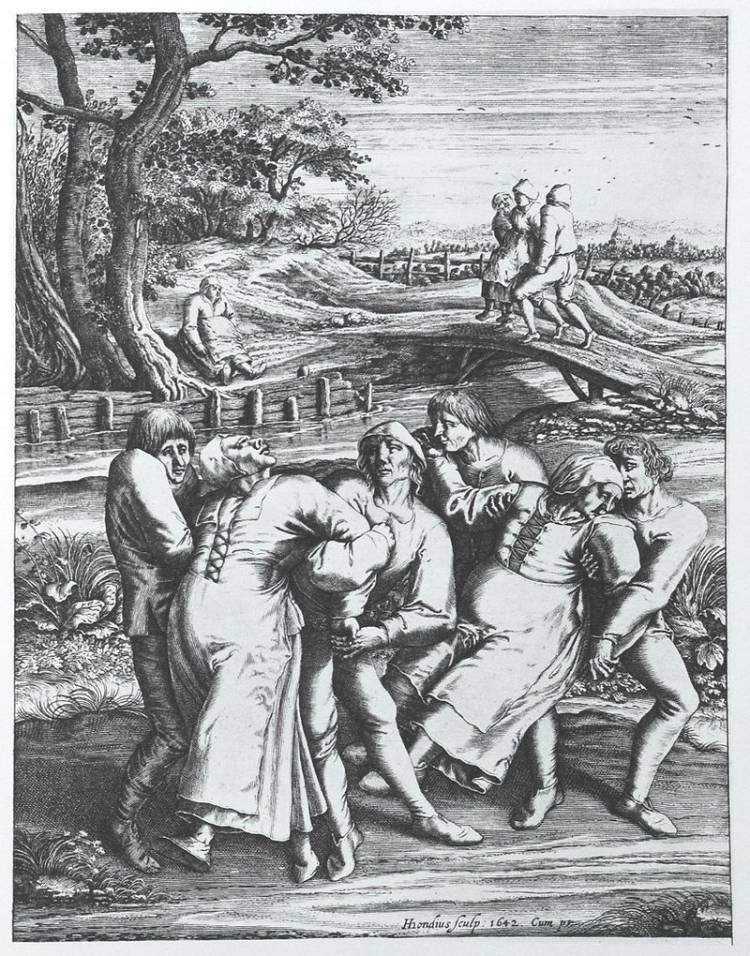 The Dancing Plague of 1518 was a case of dancing mania that occurred in Germany, where people danced without rest for a month straight.