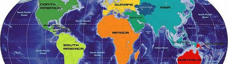 The names of the continents all end with the same letter with which they start.