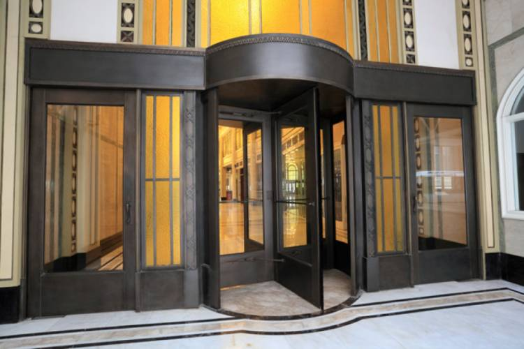 The revolving door was invented in 1888.