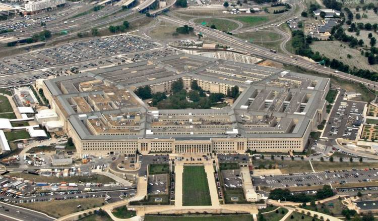 The Pentagon has no marble because it was built during World War II, and Italy, the source of marble, was an enemy country.
