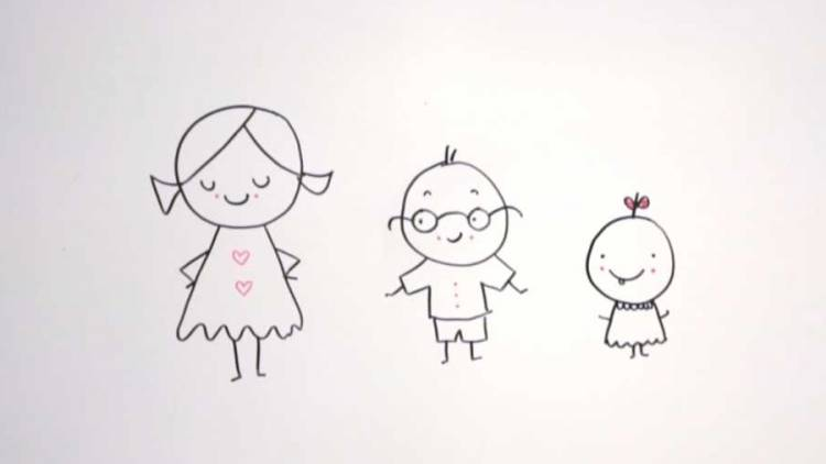Babies are born with some self awareness which allows them to differentiate their bodies from other people's.