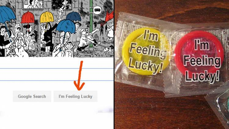 Google offers employees free condoms that come in blue, red, green, and yellow and have the phrase 'I'm Feeling Lucky!' printed on them.