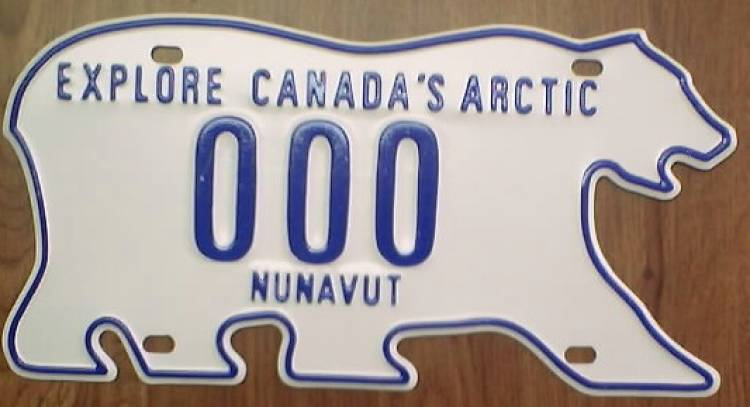 Licence plates in the Northwest Territories are shaped like polar bears.