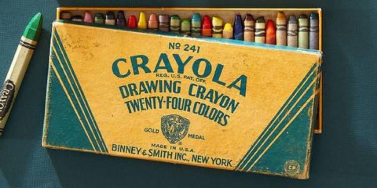 The first boxes of Crayola crayons were sold door to door for a nickel.