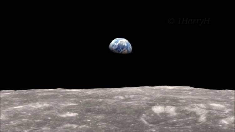 The Earth, seen from the moon, also goes through phases.