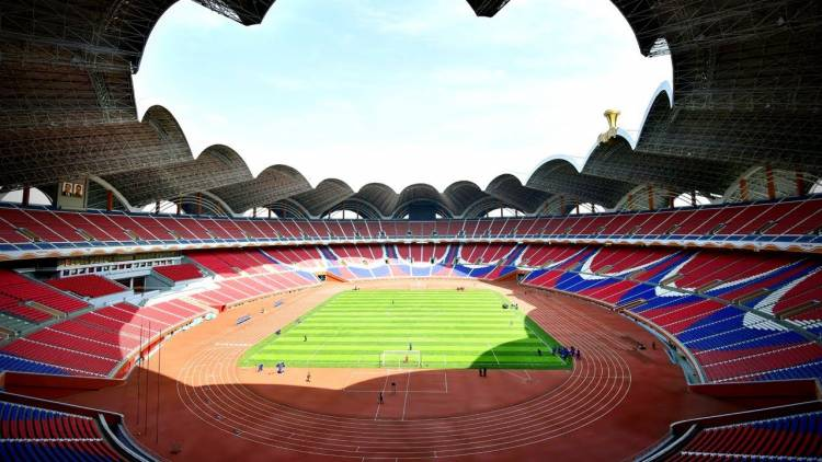 The largest stadium in the world is the Rungrado 1st of May Stadium in North Korea. It can hold up to 114,000 spectators. It covers 51 acres and is 197 feet tall.