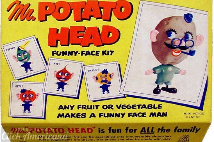 Mr Potato Head was the first toy to be advertised on TV.