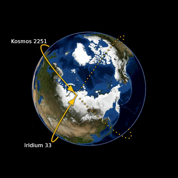 On February 10, 2009, two communications satellites accidentally collided above the Taymyr Peninsula in Siberia.