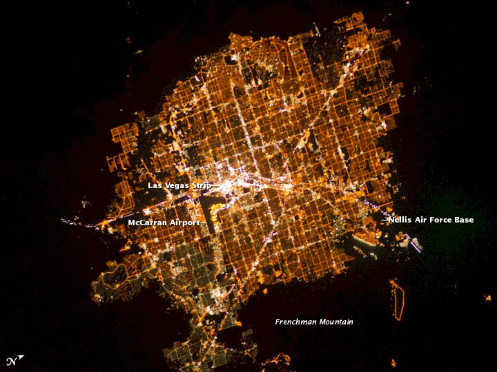 According to NASA, Las Vegas is the brightest city on Earth.