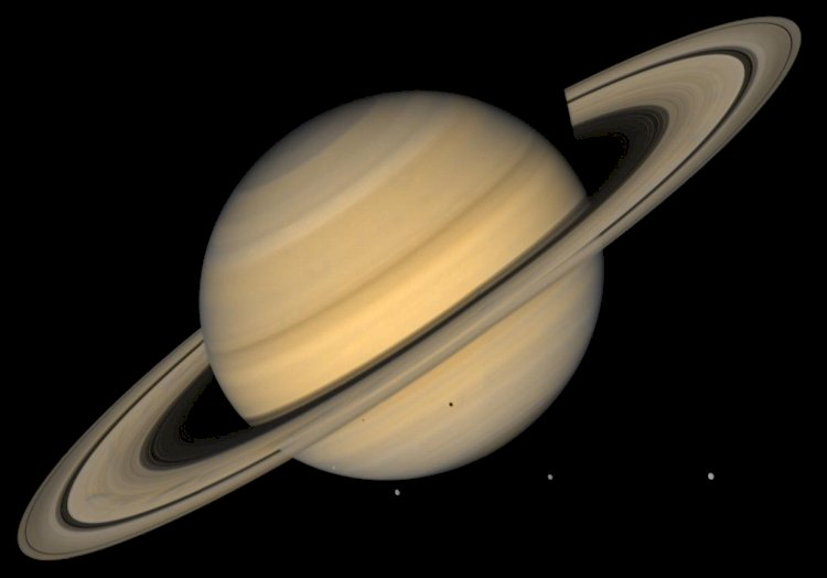 Saturn is so big that Earth could fit into it whooping 755 times!
