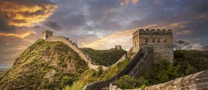 The Great Wall of China is 3,728 miles long.
