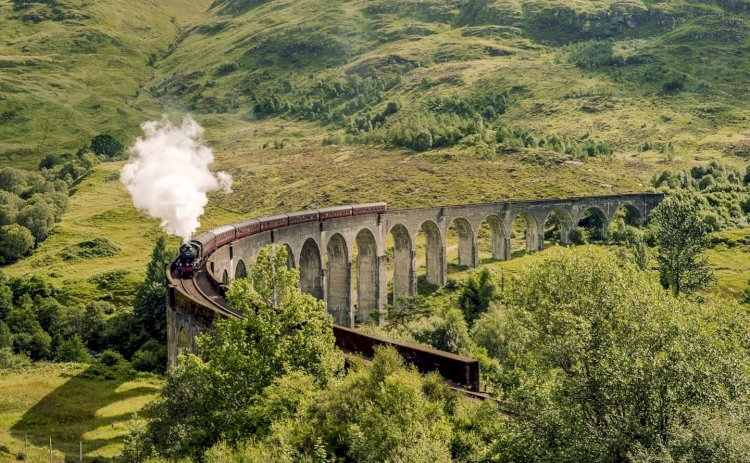 The Hogwarts Express from the Harry Potter movies is a real train in Scotland.