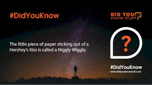 The little piece of paper sticking out of a Hershey's Kiss is called a Niggly Wiggly.