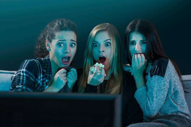 Watching horror movies can burn more calories than any other genre. The increase in heart rates and adrenaline means more calories burned.