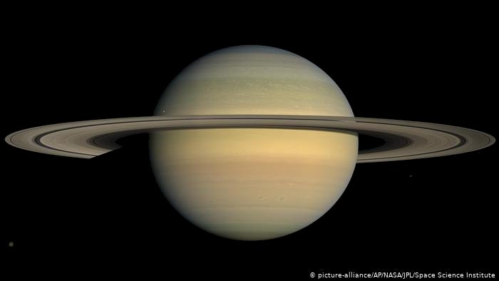 The planet Saturn could float in water because it is mostly made of gas.