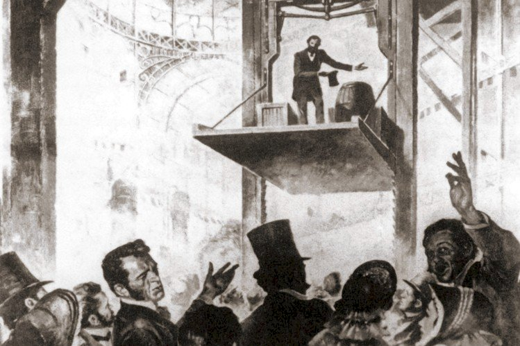 The elevator was invented in 1850.