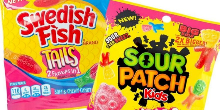 Sour Patch Kids are from the same manufacturer as Swedish Fish. The red Sour Patch Kids are the same candy as Swedish Fish, but with sour sugar.